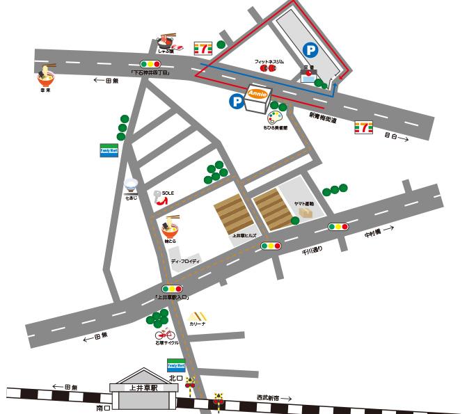 駅からのイラストマップ